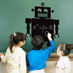 Robot Blackboard Decal Sticker