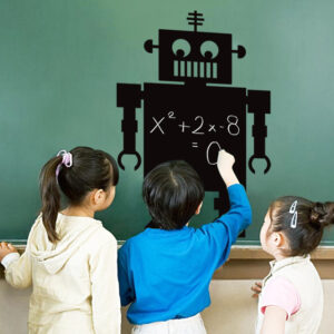 Robot Blackboard Decal Sticker