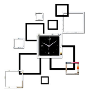 Square Clock Wall Sticker
