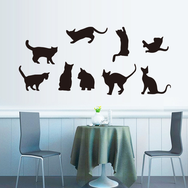 black cat decal sticker – wallstickersco