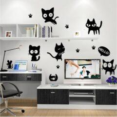Study Cats Wall Sticker