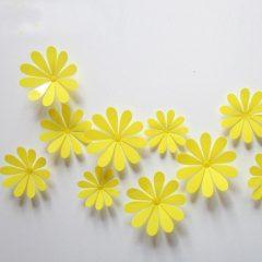 3D Flower Set Yellow