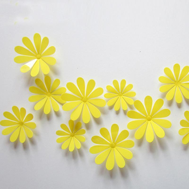 3D Flower Set Yellow – WallStickersCo