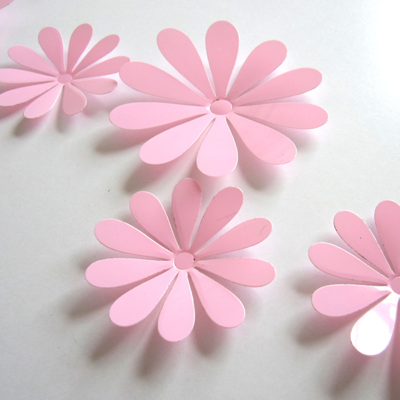 3d Flower Set Pink Wallstickersco