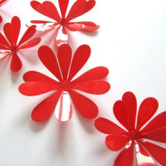 3D Flower Set Red