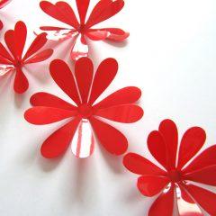 3D Flower Set Red