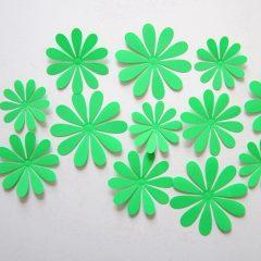 3D Flower Set Green