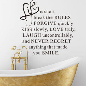 Life is Short Decal Sticker