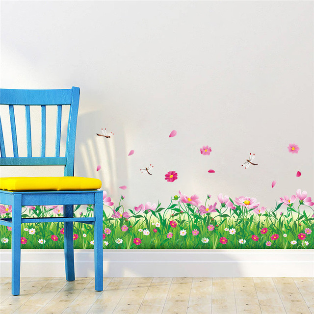 Genial Diy Wall Stickers Home Decor Nature Colorful Flowers