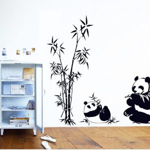 Panda Bamboo Decal Sticker