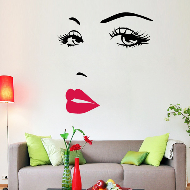 Hot Pink Lips Marilyn Monroe Quote Vinyl Wall