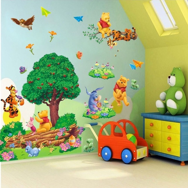 Large Winnie The Pooh Colorful Wall Sticker Art  Part 79