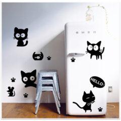 Fridge Cats Decal Sticker