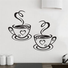 Coffee Cups Wall Sticker