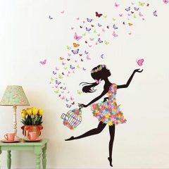 Butterfly Girl Sticker