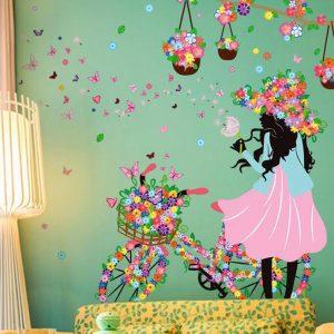 Flower Girl Wall Sticker
