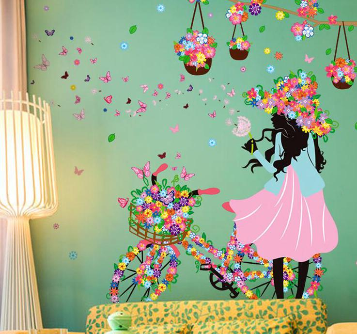 Flower Girl Wall Sticker Wallstickersco