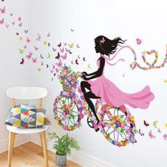 Pink Girl Wall Sticker